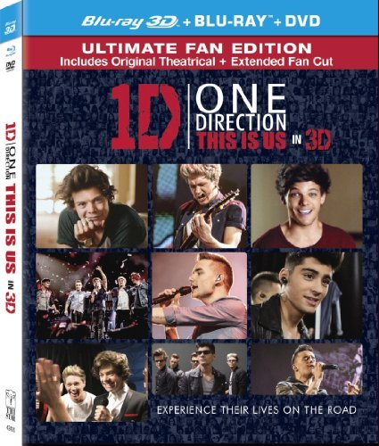 One Direction This Is Us 3d One Direction This Is Us Blu Ray DVD Uv Pg Ws