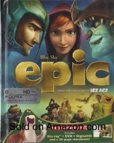 Colin Farrell Josh Hutcherson Epic Digibook(blu Ray DVD + Digital Copy + 24 Pa Blu Ray DVD + Digital Copy + Storybook