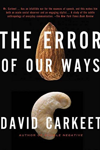 David Carkeet The Error Of Our Ways