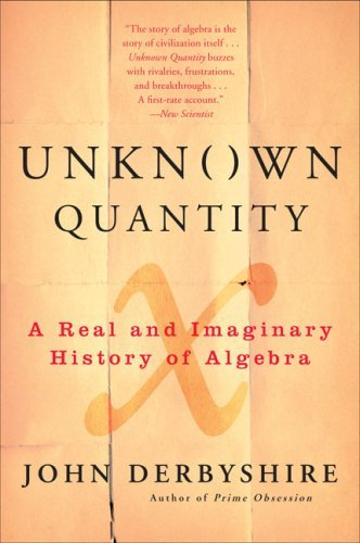 John Derbyshire Unknown Quantity A Real And Imaginary History Of Algebra