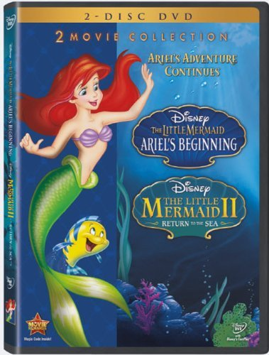 Little Mermaid 2 Ariel's Beginning Disney DVD G Ws