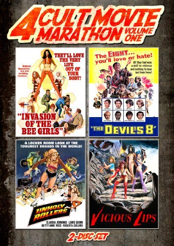 Unholy Rollers Invasion Of The Bee Girls Devil's Eight Vicious Lips Cult Movie Marathon Volume 1 DVD R
