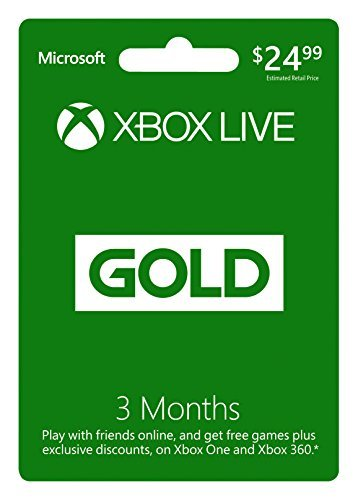 X360ac Live 3 Month Gold Card Works With Xbox One As Well