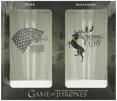 Pint Glass Set Game Of Thrones Stark & Baratheon