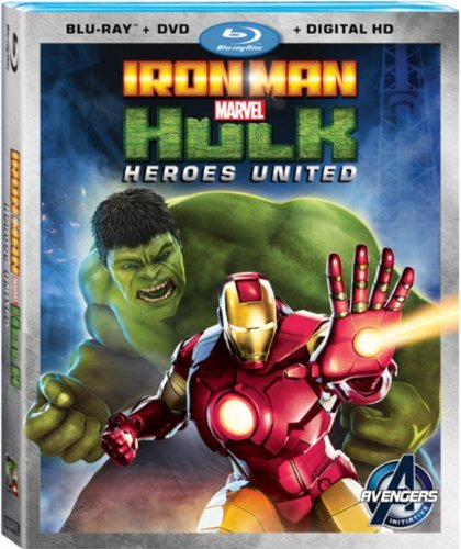Iron Man & Hulk Heroes United Blu Ray DVD