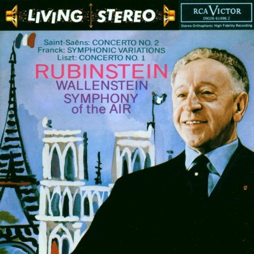 Saint Saens Franck Liszt Con Pno 2 Sym Var Con Pno 1 Rubinstein*artur (pno) Wallenstein Sym Of The Air