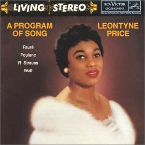 Leontyne Price Program Of Song Price (sop) Garvey (pno)