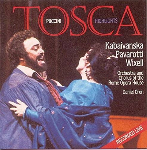 G. Puccini Tosca Hlts Pavarotti Kabaivanska Wixell + Oren Rome Opera House Orch & C