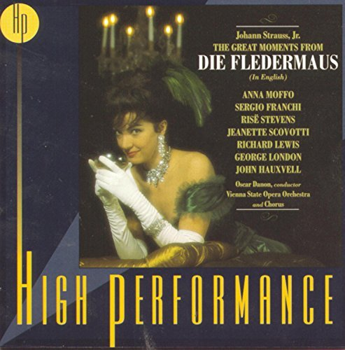 J.Jr. Strauss Fledermaus Hlts (in English) Moffo Franchi Stevens Lewis & Danon Vienna State Opera Orch