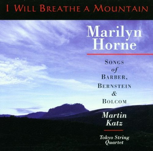 Marilyn Horne I Will Breathe CD R