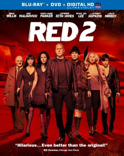 Red 2 Willis Mirren Malkovich Blu Ray DVD Pg13