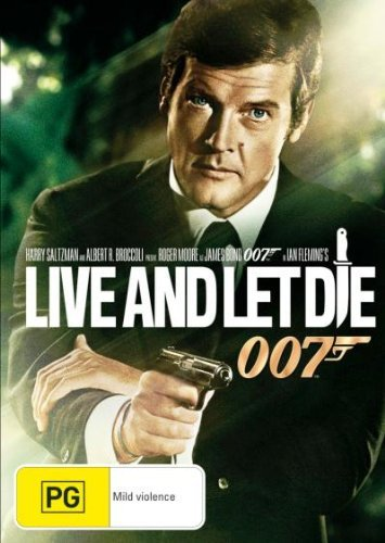 Roger Moore Guy Hamilton Live And Let Die 007 DVD Moore Roger