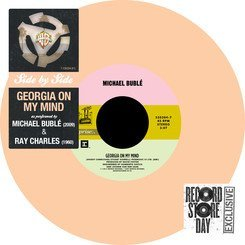 Michael & Ray Charles Buble Georgia On My Mind 7 Inch Single