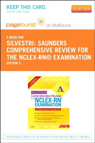 Linda Anne Silvestri Saunders Comprehensive Review For The Nclex Rn? Ex 0005 Edition;