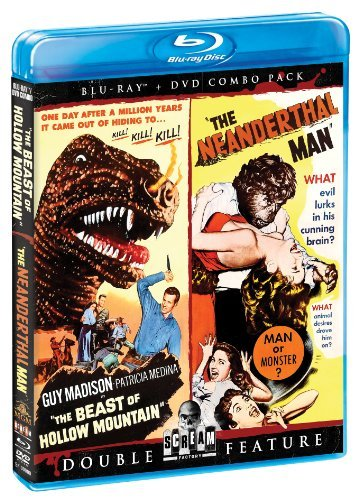 Beast Of Hollow Mountain Neanderthal Man Double Feature Blu Ray DVD Nr Ws
