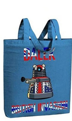 Tote Bag Doctor Who Dalek British Invasion