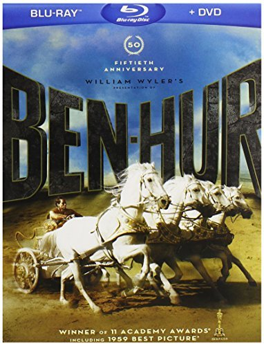 Ben Hur Heston Charlton Blu Ray Ws 50th Anniv Ed. G 2 Br 2 DVD