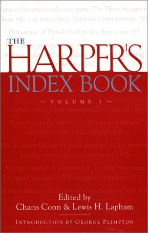Lewis H. Lapham The Harper's Index Book Volume 3