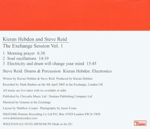 Kieran & Steve Reid Hebden Vol. 1 Exchange Sessions Import Gbr