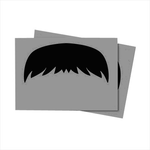Card Sleeves Gray Moustachio 50 Pack