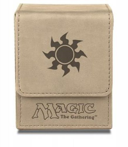 Deck Box Mtg White Mana Flip Box Matte Finish