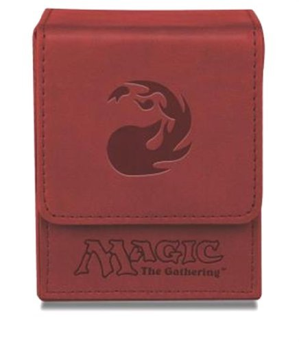 Deck Box Mtg Red Mana Flip Box Matte Finish