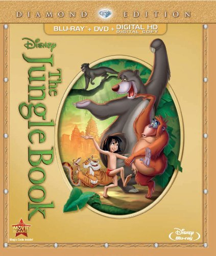 Jungle Book Disney Diamond Edition Blu Ray DVD Uv G Ws