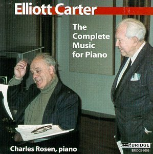 Elliott Carter Complete Music For Piano Rosen*charles (pno)