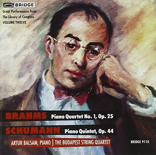 Brahms Schumann Great Performances From The Li Balsam*arthur Budapest Str Qt