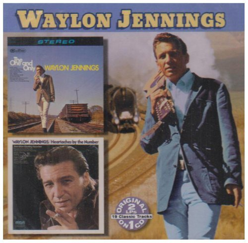 Waylon Jennings One & Only Heartaches By The N 2 On 1