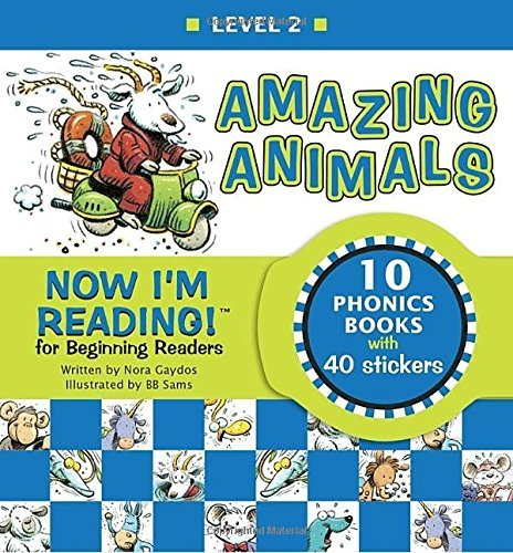 Nora Gaydos Now I'm Reading! Level 2 Amazing Animals [with Stickers]
