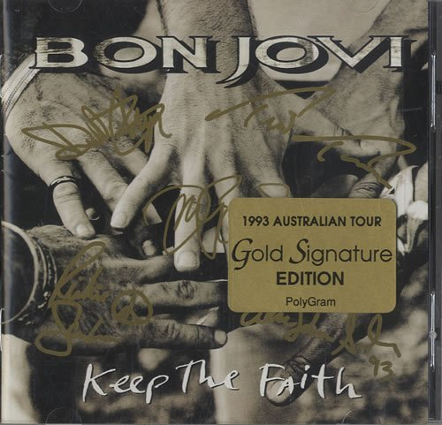 Bon Jovi Keep The Faith Gold Tour Edition