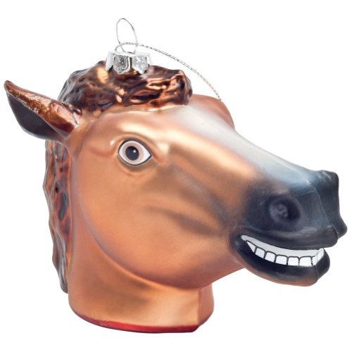 Gift Ornament Horse Head Glass