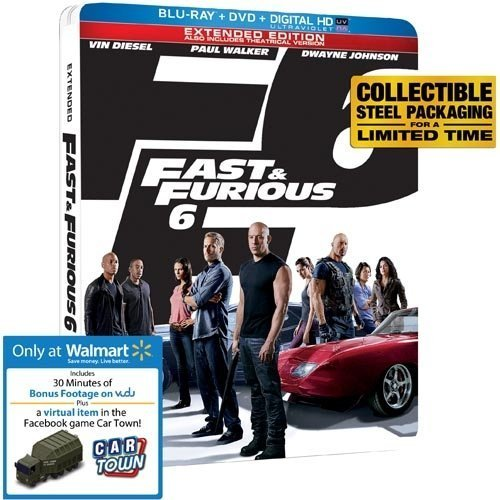 Fast & Furious 6 Blu Ray+dvd+digital Ultraviolet E Blu Ray+dvd+digital Ultraviolet