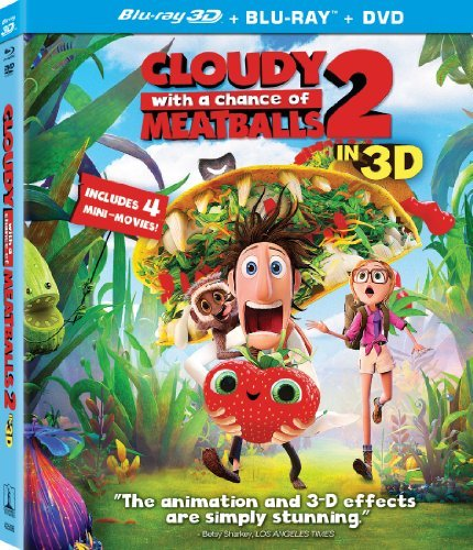 Cloudy With A Chance Of Meatballs 2 Cloudy With A Chance Of Meatballs 2 Blu Ray 3d DVD Uv Pg