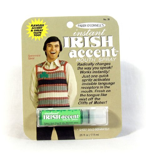 Breath Spray Irish Accent Breath Spray