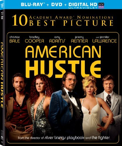 American Hustle Cooper Bale Adams Lawrence Blu Ray DVD Uv R Ws