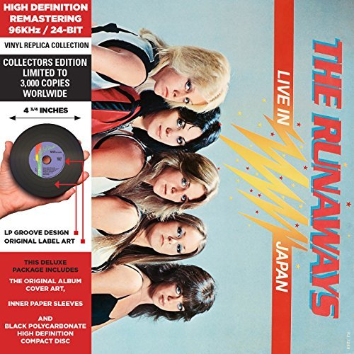 Runaways Live In Japan Remastered Lmtd Ed. Deluxe Vinyl Replica
