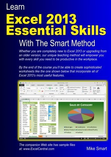 Mike Smart Learn Excel 2013 Essential Skills With The Smart M