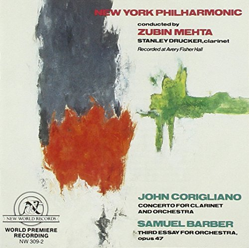 Barber Samuel Corigliano John Third Essay For Orchestra Op.