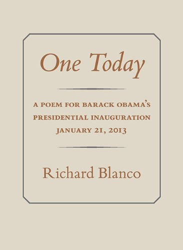 Richard Blanco One Today A Poem For Barack Obama's Presidential Inaugurati
