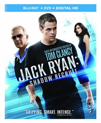 Jack Ryan Shadow Recruit Pine Knightley Costner Branagh Blu Ray DVD Pg13