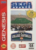 Sega Genesis College Football's National Championship