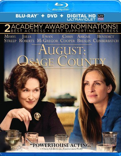 August Osage County Streep Roberts Mcgregor Blu Ray DVD R