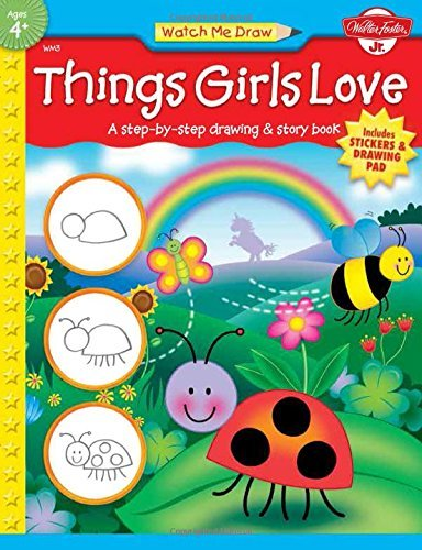 Jenna Winterberg Things Girls Love A Step By Step Drawing And Story Book [with Drawi