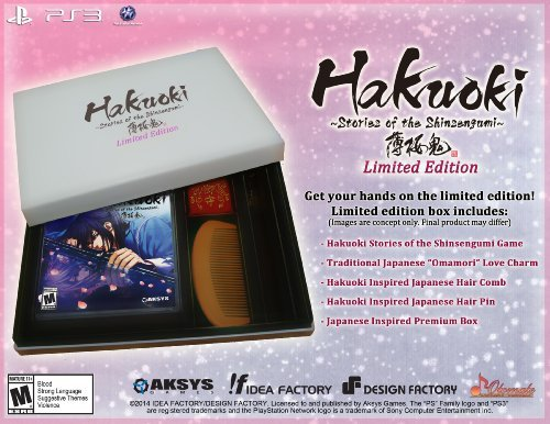 Ps3 Hakuoki Stories Of The Shinsengumi Limited Edition Aksys Games M