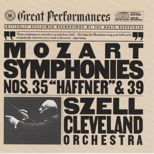 Mozart George Szell Cleveland Orchestra Mozart Symphonies Nos. 35 & 39 (cbs Records Great