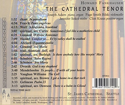 Howard Fankhauser The Cathedral Tenor; Howard Fankhauser