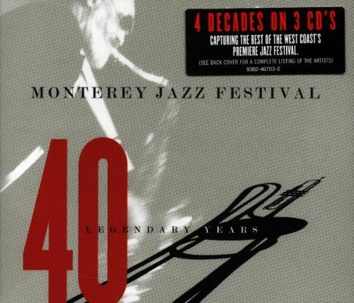 Monterey Jazz Festival Fort Monterey Jazz Festival Forty L Gillespie Brubeck Holiday Monk 3 CD Set