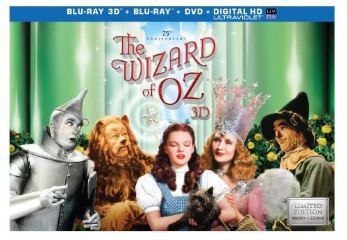 Wizard Of Oz 3d Garland Hamilton Bolger Haley Blu Ray Ws 75th Anniv. G Incl. DVD